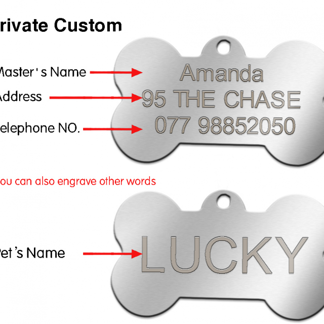 Stainless Steel Engraved ID Tag